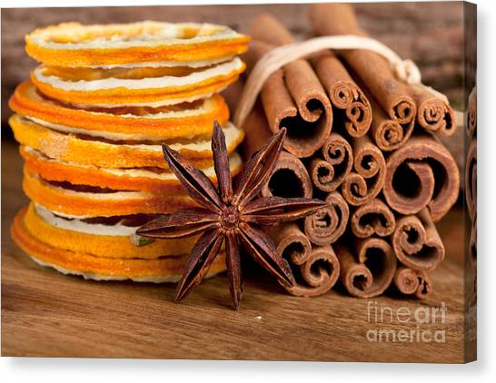 Citrus Canvas Print - Winter Spices by Nailia Schwarz