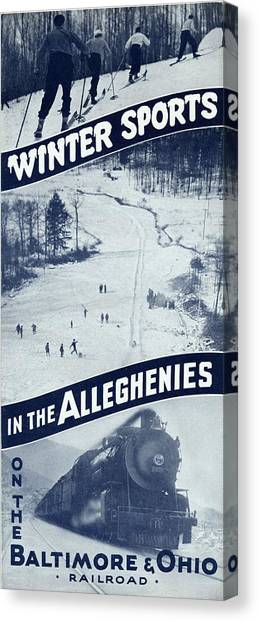 Winter Sports In The Alleghenies Canvas Print