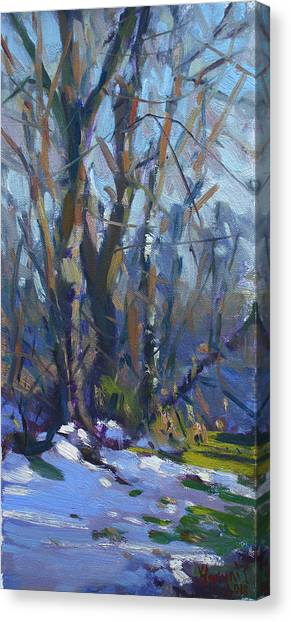 Kiss Canvas Print - Winter-spring Kiss by Ylli Haruni