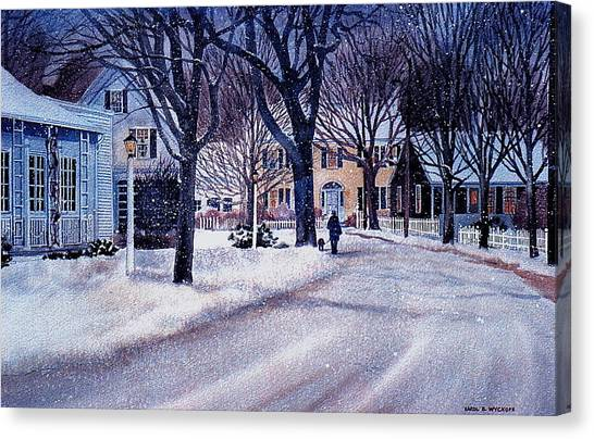 Winter Stroll Canvas Print