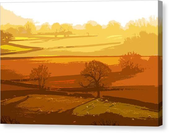 Lyth Hill 1 - Winter Sun  Canvas Print