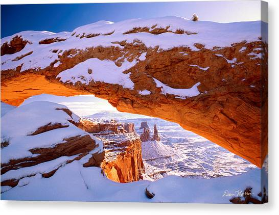 Winter Sunrise At Mesa Arch Canvas Print