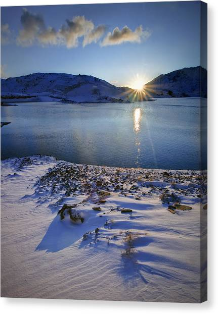Winter Sunrise Canvas Print by Richard Outram