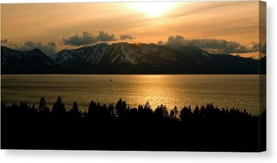 Winter Sunset At Lake Tahoe Canvas Print
