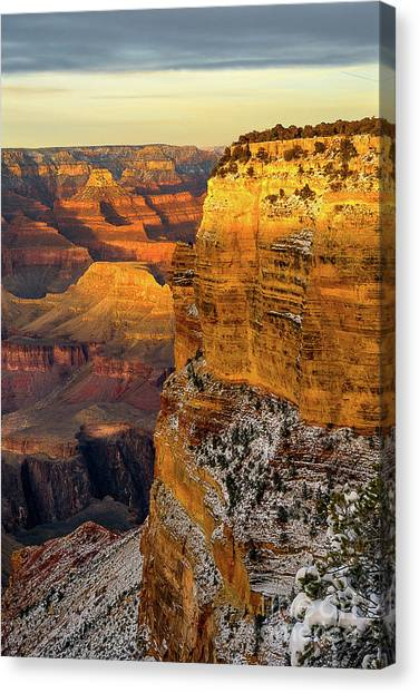 Winter Sunset At The Grand Canyon Canvas Print