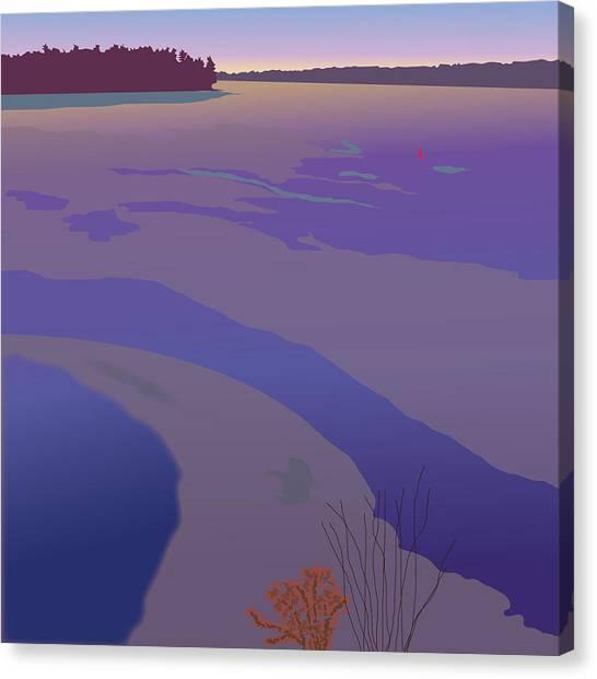 Winter Sunset Canvas Print by Marian Federspiel