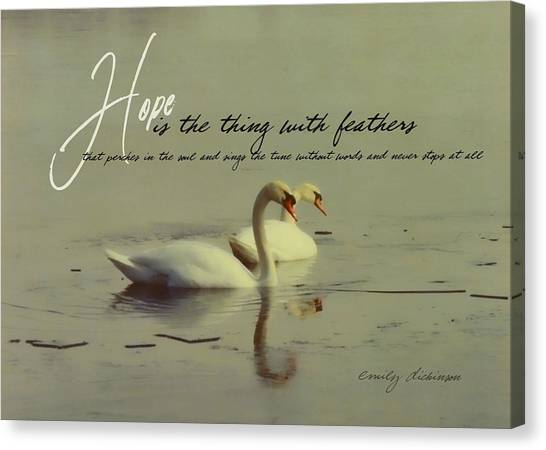 Winter Swans Quote Canvas Print