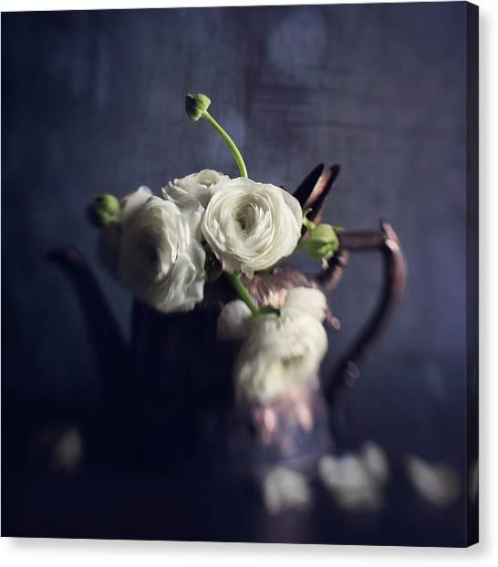 Tea Pot Canvas Print - Winter Tea by Amy Weiss