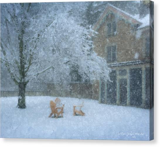 Winter Tea At Queset House Canvas Print