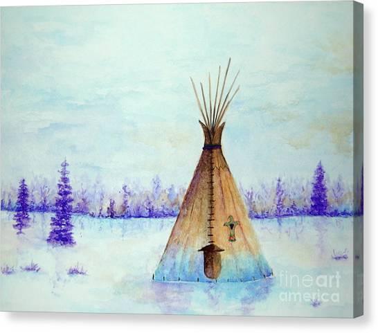 Winter Tepee Canvas Print