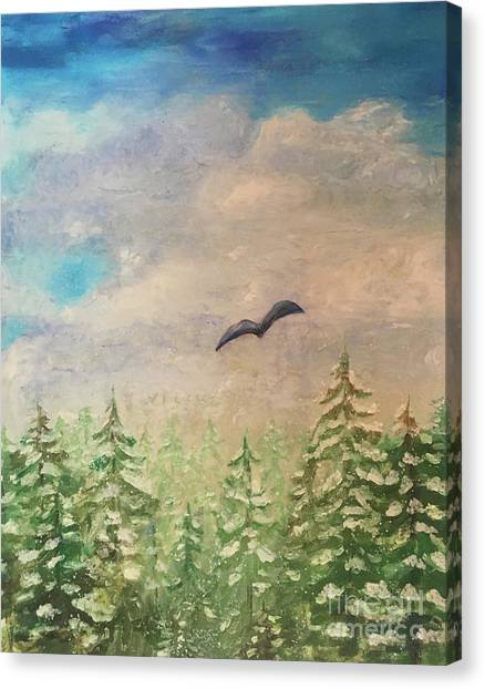 Winter To Spring Canvas Print