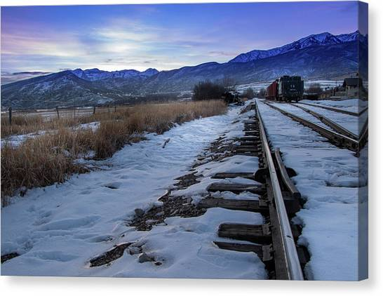 Winter Tracks Canvas Print