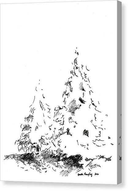 Winter Trees 1 - 2016 Canvas Print