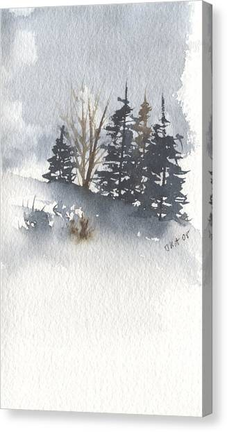Winter Trees Canvas Print by Jan Anderson