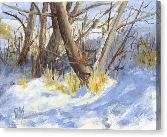 Winter Trunks Canvas Print
