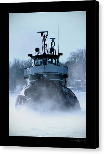 Winter Tug Canvas Print