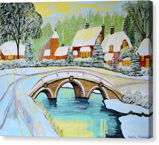 Winter Village Canvas Print