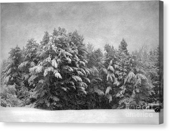 Winter Vintage Canvas Print