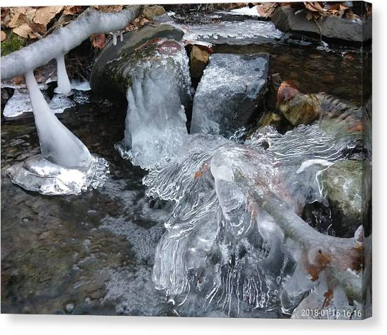 Winter Water Flow 4 Canvas Print