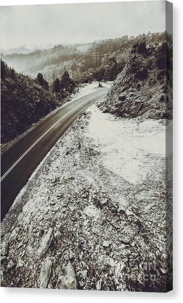 Winter Scenery Canvas Print - Winter Weather Road by Jorgo Photography - Wall Art Gallery