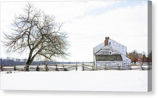 Winter White Out Canvas Print