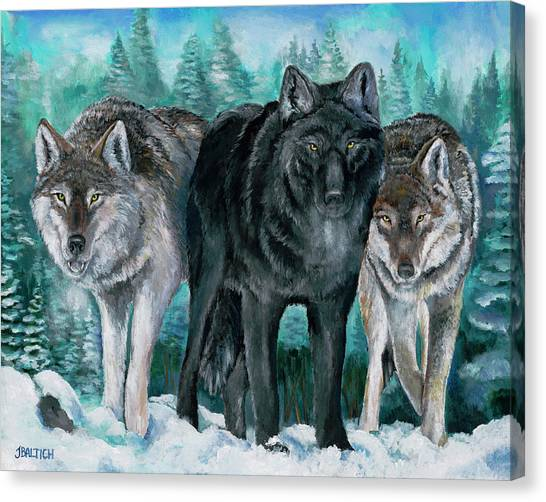 Winter Wolves Canvas Print