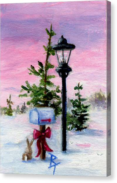 Winter Wonderland Aceo Canvas Print by Brenda Thour