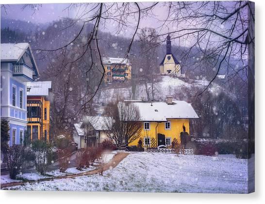 Frosty Canvas Print - Winter Wonderland In Mondsee Austria  by Carol Japp