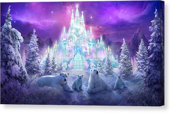 Polar Bears Canvas Print - Winter Wonderland by Philip Straub