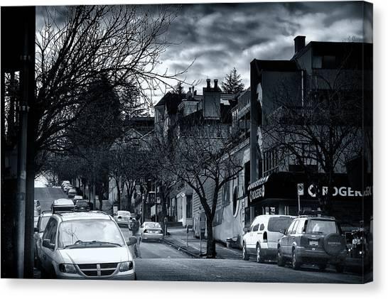 Winter Yew Street Canvas Print by Paul Kloschinsky
