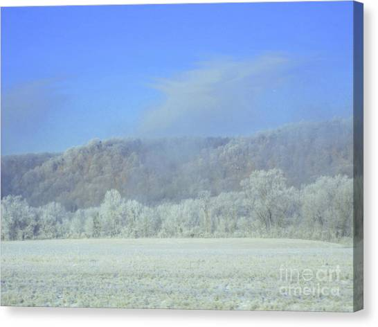 Winter's An Etching... Canvas Print