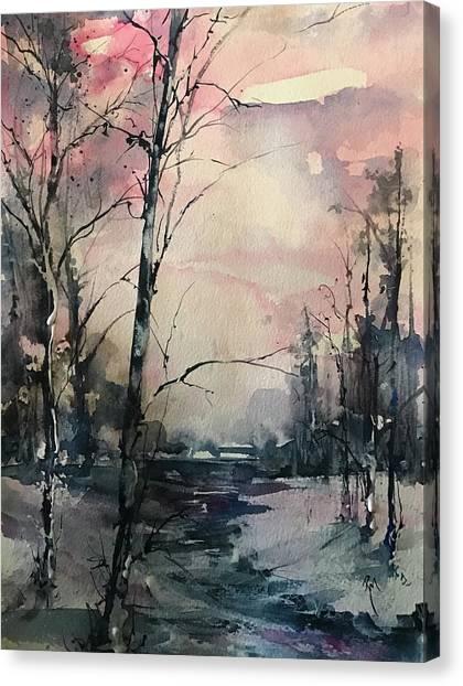 Winter's Blush Canvas Print