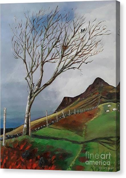 Winter's Day At Yewbarrow -painting Canvas Print