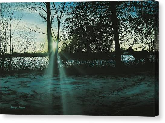 Winter's Evening Scout Canvas Print