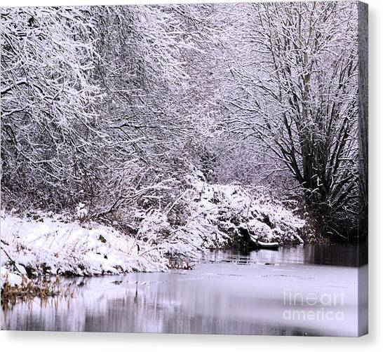 Winters First Icy Breath Canvas Print