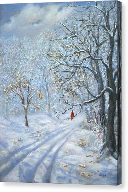 Winter's Guest Jockey Hollow New Jersey Canvas Print