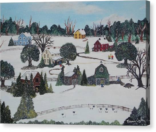 Winters Last Snow Canvas Print