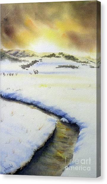 Winter's Light Canvas Print
