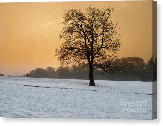 Castle Canvas Print - Winters Morning by Smart Aviation
