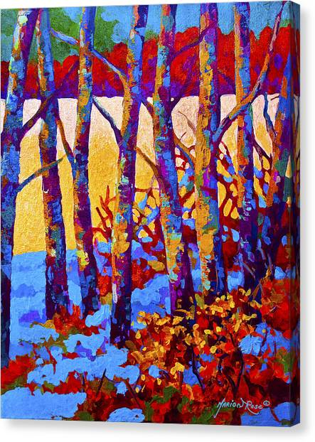 Aspen Canvas Print - Winter's Promise by Marion Rose
