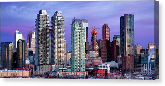 Winter's Sky Over Calgary Canvas Print