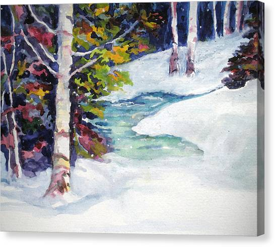 Winter's Solace Canvas Print by Mary Sonya  Conti