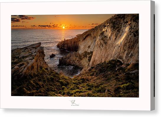 Winter's Sunset Canvas Print