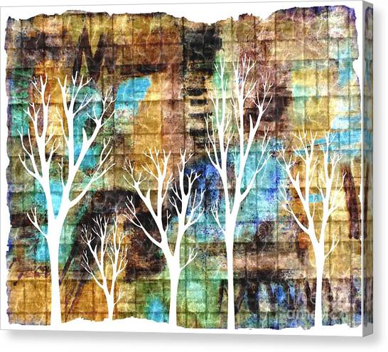 Winterscape 2 Canvas Print by Mimo Krouzian
