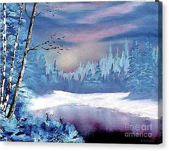 Canvas Print featuring the painting Winterscape by Dee Flouton
