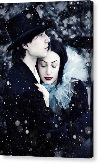 Black Top Canvas Print - Wintersoul by Cambion Art