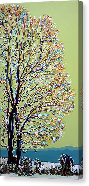 Wintertainment Tree Canvas Print