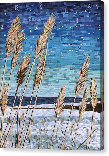Wintertime On Lake Erie Canvas Print