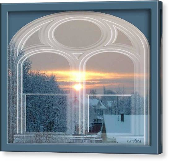 Winterview From My Window Canvas Print by Carola Ann-Margret Forsberg