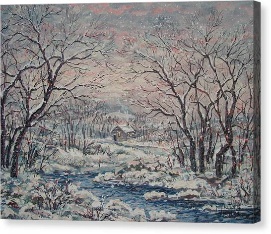 Wintery December Canvas Print